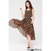 Đầm maxi kẻ caro - 4787