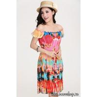 Đầm hoa dịu dàng - 5210 - Hàng Nhập
