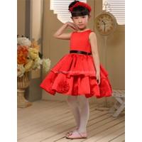 Đầm công chúa cao cấp hoa xoay đỏ 264