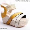 Giày dép sandal nữ đế xuồng cao gót đi biển hè thời trang. XG 010