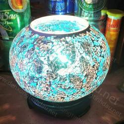 Đèn xông tinh dầu pha lê xanh dương
