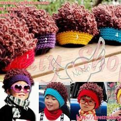 Nón len baby tóc xoăn cá tính BE002 phong cách thổ dân Châu Phi