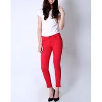 Quần skinny jeans lửng đỏ