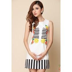 Đầm suông viền họa tiết xinh xắn - DT2162