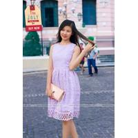 Đầm hoa tím