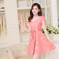 Đầm Váy Công Sở Hàn Quốc D383