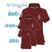 Susu_Bộ Combo 3 áo gia đình cực đẹp BB_08 đỏ đô