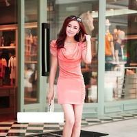 Đầm Voan Ren Cổ Đổ Tuyệt Đẹp YKMD_1635