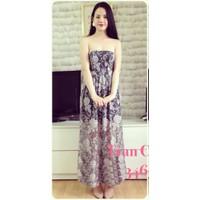 Đầm maxi ren hoa
