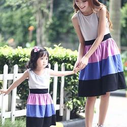 Combo Đầm Thun Cho Mẹ Và Bé