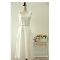 Đầm trắng form dài cao cấp