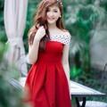 Đầm Bẹt Vai Phối Bi đáng yêu YKD1385