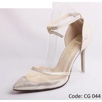 Giày cao gót lưới đế nhọn thời trang nữ.