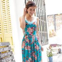 Đầm Maxi Bướm Xanh YKD1071_1