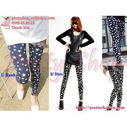 QA023 quần legging thun hình ngôi sao