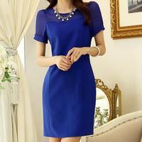 Đầm công sở Blue