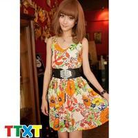 Đầm hoa dạo phố trẻ trung Mã: DA2621 - CAM