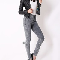 Quần Jeans nữ cạp cao 1 khuy 8857