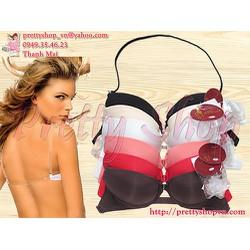 AL002 - Áo ngực trơn dây lưng trong suốt mút dày