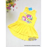 Đầm Hello Kitty tắm nắng