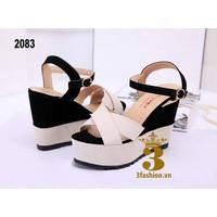 Sandal Đế Xuồng - Phối 2 Màu - msp 2083