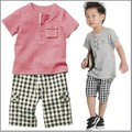 Bộ đồ quần túi hộp và áo thun cho bé trai dtt07039