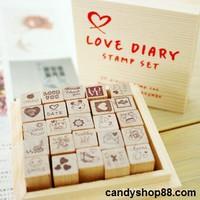 Bộ con dấu BCD04 Love Diary