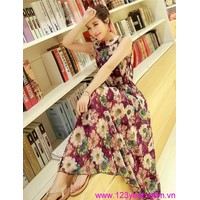 Váy maxi hoa thướt tha duyên dáng tDD856