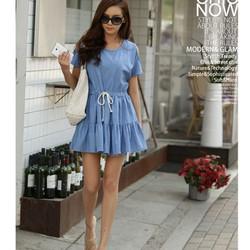 Đầm thời trang denim năng động ddp08181