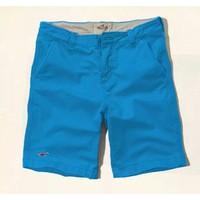 NK 0606 - Quần short kaki Hollister cao cấp 2014 - Màu xanh da