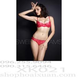 Bộ đồ lót thun ren mịn hàng xuất khẩu Hiệu Pleasure State - XK021