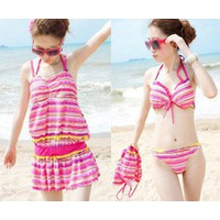 Bộ đồ bơi nữ set bộ lót trong ngoài váy phong cách quyến rũ-DB023