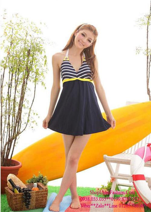 Đồ bơi,bikini váy sọc hải quân gợi cảm-DB026 7