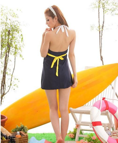 Đồ bơi,bikini váy sọc hải quân gợi cảm-DB026 8