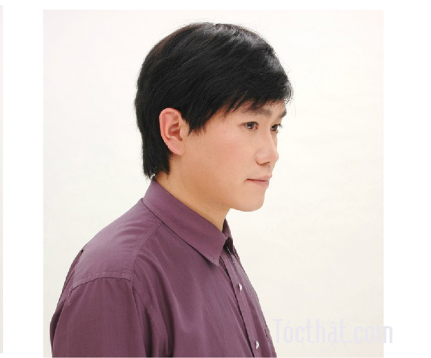 tóc giả làm từ tóc thật giành cho nam Zm009 15
