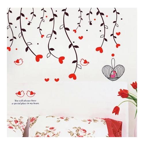 Decal dán tường Dây leo hoa trái tim đỏ - 3832712 , 824112 , 15_824112 , 75000 , Decal-dan-tuong-Day-leo-hoa-trai-tim-do-15_824112 , sendo.vn , Decal dán tường Dây leo hoa trái tim đỏ