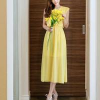 Đầm Voan Vintage Elizabeth DDP08215