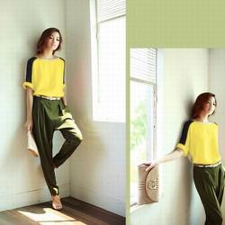 Áo thun cánh dơi phối màu hàng chất Style Hàn Quốc TS 021A