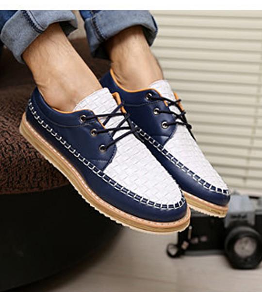 Giày nam dạo phố đế cao Mã: GH0130 - TRẮNG XANH 4