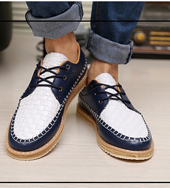 Giày nam dạo phố đế cao Mã: GH0130 - TRẮNG XANH 5