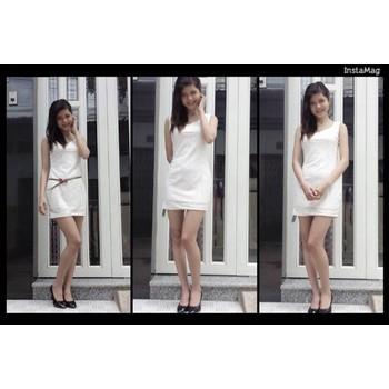 Đầm Ren Không Tay TRẮNG