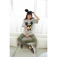 Áo thun nữ Mickey form rộng đáng iu năng động iAT385
