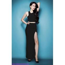 Chân váy Ngọc Trinh dài xẻ cao quyến rũ CV42