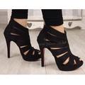 Giày cao gót xương cá - chất liệu mới - giá mới