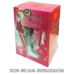 Viên Giảm Cân và làm trắng da Lishou hồng Phục Linh collagen - HX1298