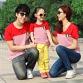 Đồng phục gia đình sọc đỏ cá tính