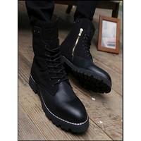Giày boot nam màu nâu hàn quốc sành điệu