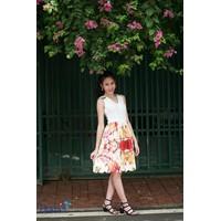 Đầm chân váy hoa