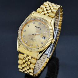 Đồng hồ mạ vàng đính hạt chống nước cao cấp