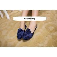 Giày slip on nhung VV78